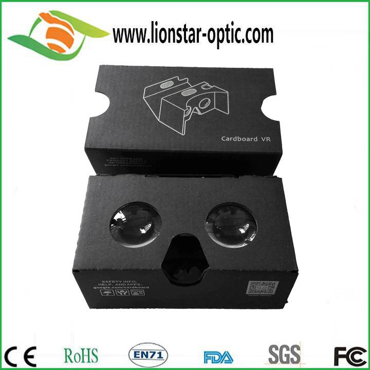 Customized paper google cardboard virtual reality 2.0 , high quality 3d cinema smartphone video vr g