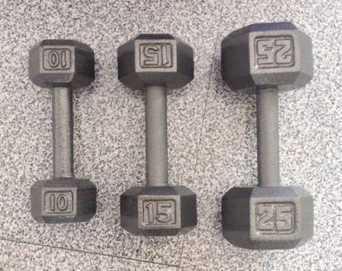 hex hammerton cast iron dumbbell