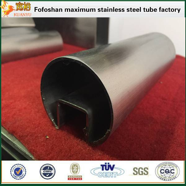Guangdong best stainless steel single slot top rail tube manufacturers