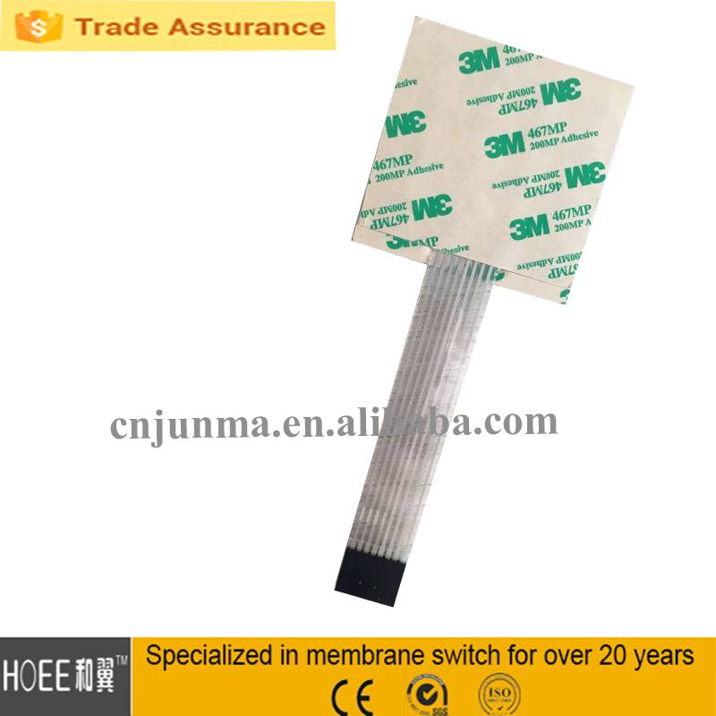 Latest high quality custom LONG and FLEXIBLE adhesive overlay membrane type keypad switch