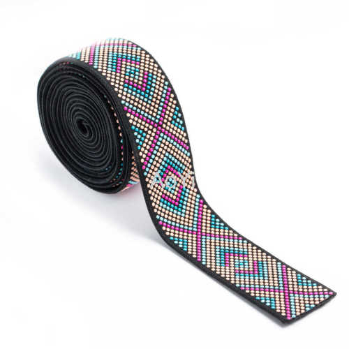 3.5cm Polyester Nylon Yarn Spandex elastic band with silicone