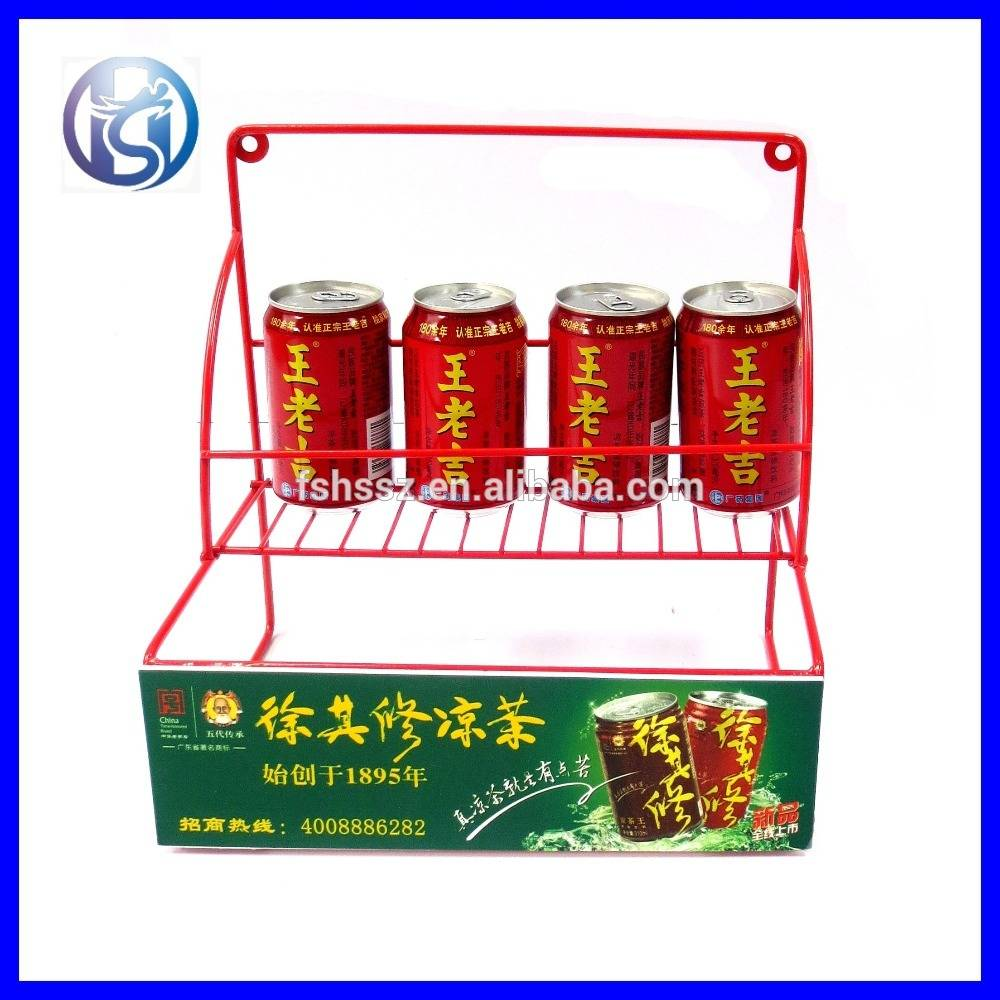 Modern design table top Beverage can display rack HS-X7