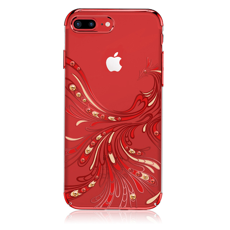 Stylish Electroplated Phoenix Hard Phone Cases Brand with Swarovski Crystal for iPhone X/6/7/8 Plus