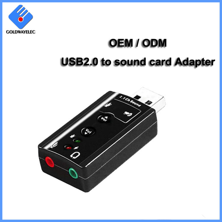 Driver free 7.1 channel stereo audio usb sound card