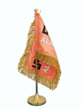 Golden Table Flag Pole w/ Flag