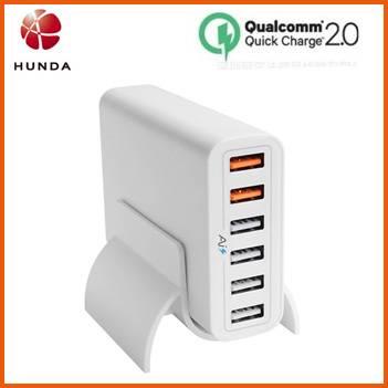 5v 9v 12v High Output Quick Charge 2.0 6 USB Wall Charger Qualcomm Certified Manufacturer
