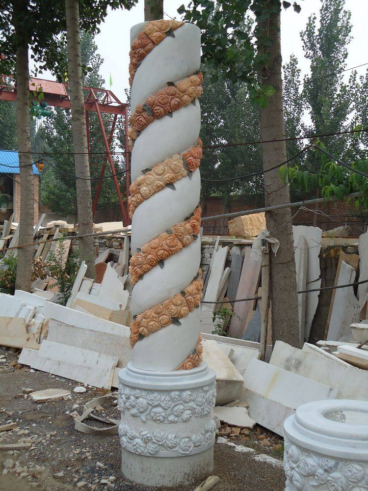 marble carved columns