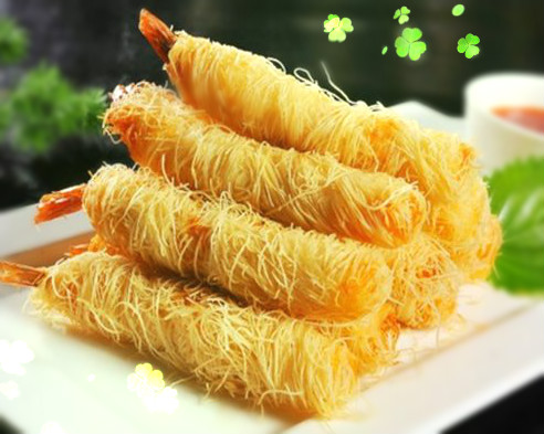 Breaded shrimp of thousand silk