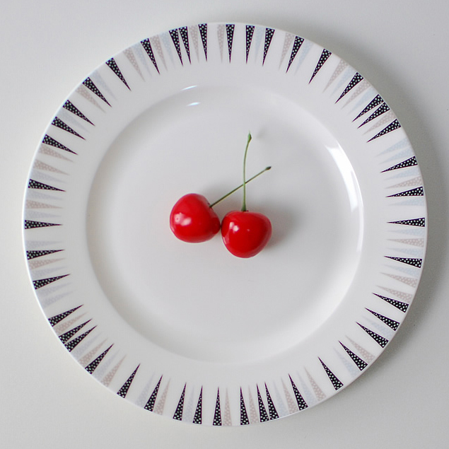 restaurant use ceramic dinner plate with custom design