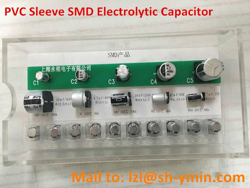 PVC Sleeve SMD aluminum capacitor for high advanced power supply