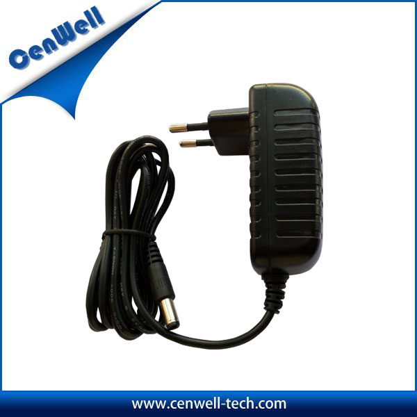 12v 1.5a 18w Horizontal Ac Power Adapter For CCTV/Air Cleaner