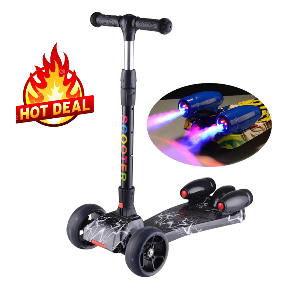 2018 new 3 wheels kids scooter with jet spray and music