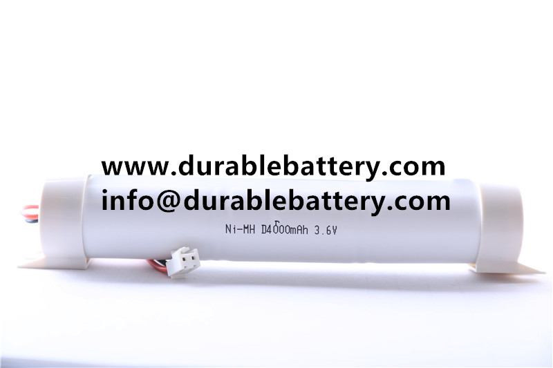 High temperature nicd 3.6v rechargeable battery pack D 4000mah for emergency lighting battery