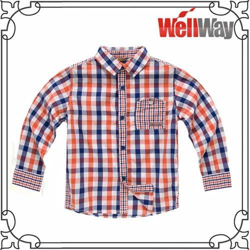100% cotton flannel shirt for kids