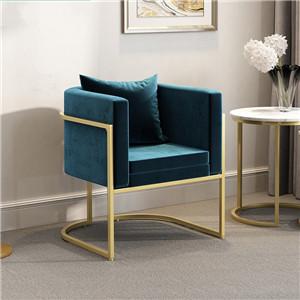 Metal Frame Velvet Sofa armchair sets for living Room Furniture