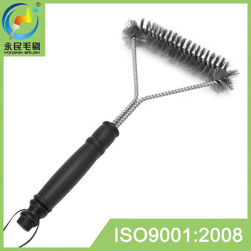 Stainless steel BBQ grill brush cleaner