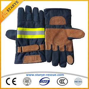 EN659 Cow Leather Aramid Fireman Protect Fire Gloves Fire Fighting Gloves