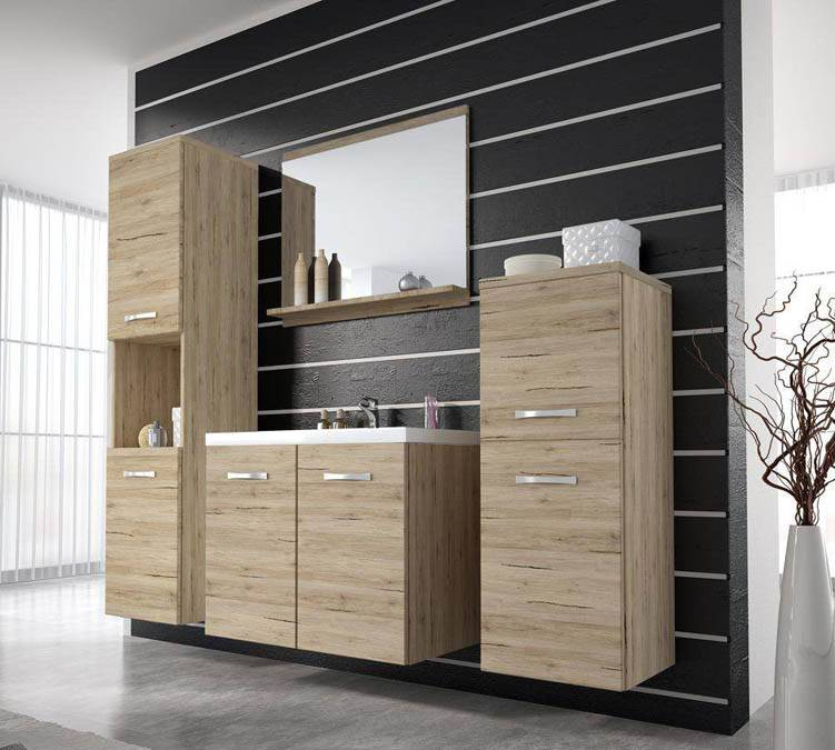 New Modern Wood Oak Bath Cabinet Unit Design New Style Bathroom Furniture-M1219