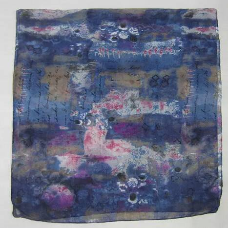 2014women's twill polyester scarf letters and panting PG946print scarf PG