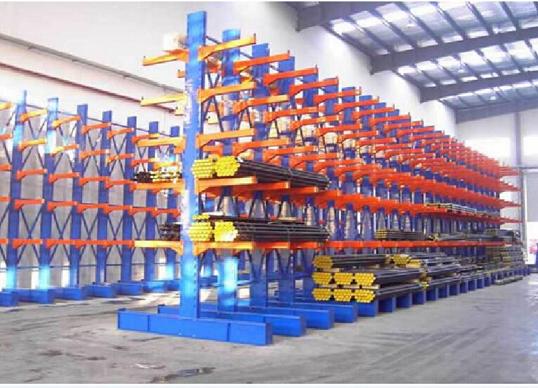 steel pipe storage long arms cantilever rack