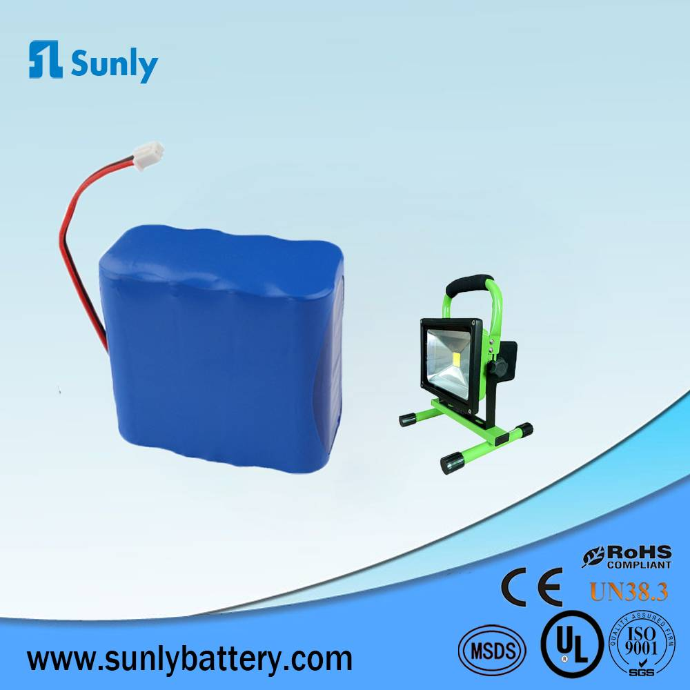 18650 lithium ion battery 14.8V 4400mAh li-ion battery pack for LED Lights/Portable medical devices