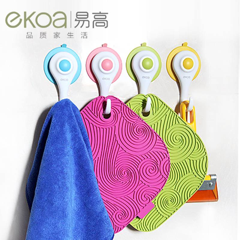 Ekoa hot sale small diamond suction cup hook for clothes