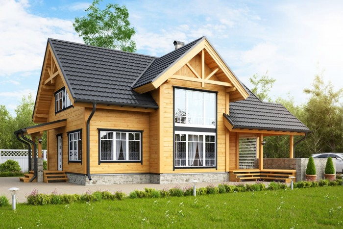 prefab house wooden bungalow