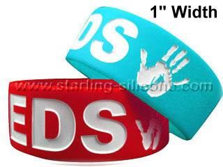 STARLING Silicone- 1 Inch Silicone Wristbands, Silicone Bracelets