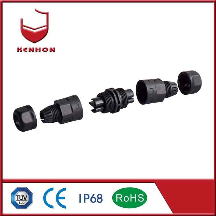 M20 IP68 240v and 3 pin outdoor waterproof connectors for outdoor