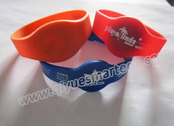 ntag203 waterproof silicon rfid wristband