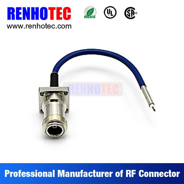 PIN to TNC F 7/16 N Type Coaxial Wire Rope Connectors Custom Cable Assembly