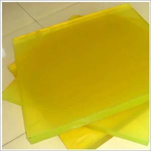 Light yellow 100% virgin polyurethane sheet