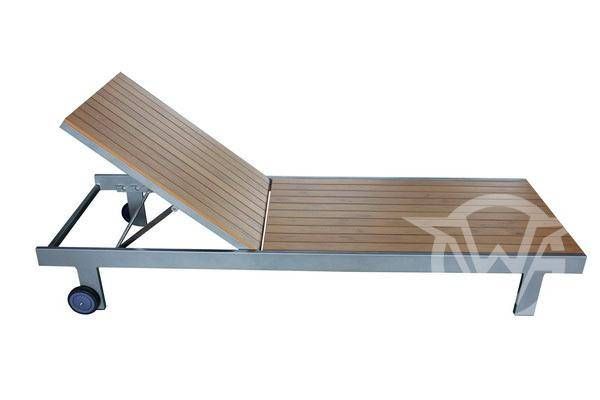 New Outdoor Furniture Polywood Lounge with Aluminum Frame