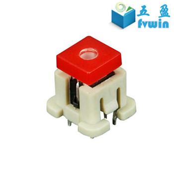 tiny illuminated tact switch,led tact switch with cap