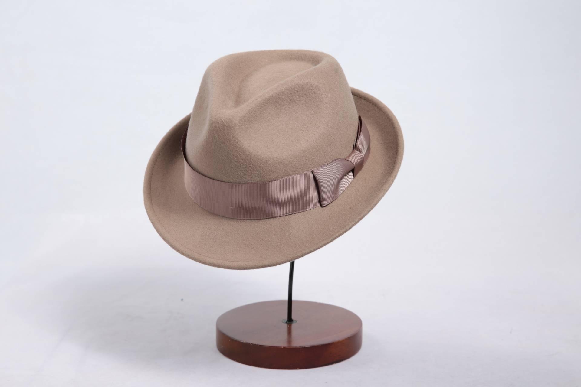 High Quality Man Wool Felt Fedora Hat (FM003086)