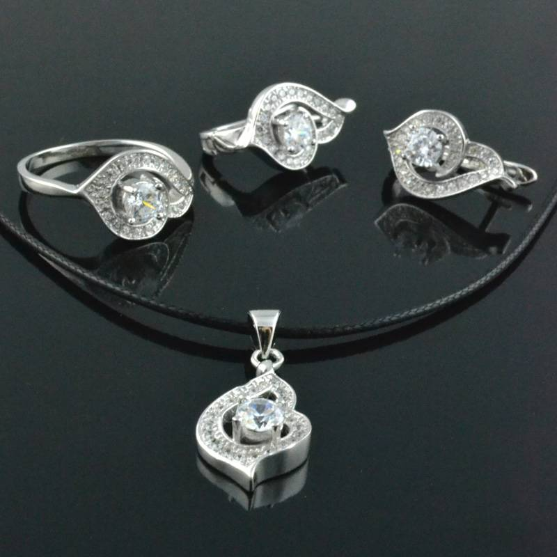 Personalized 925 Sterling Silver Jewelry Sets Silver Jewelry Earrings (6)