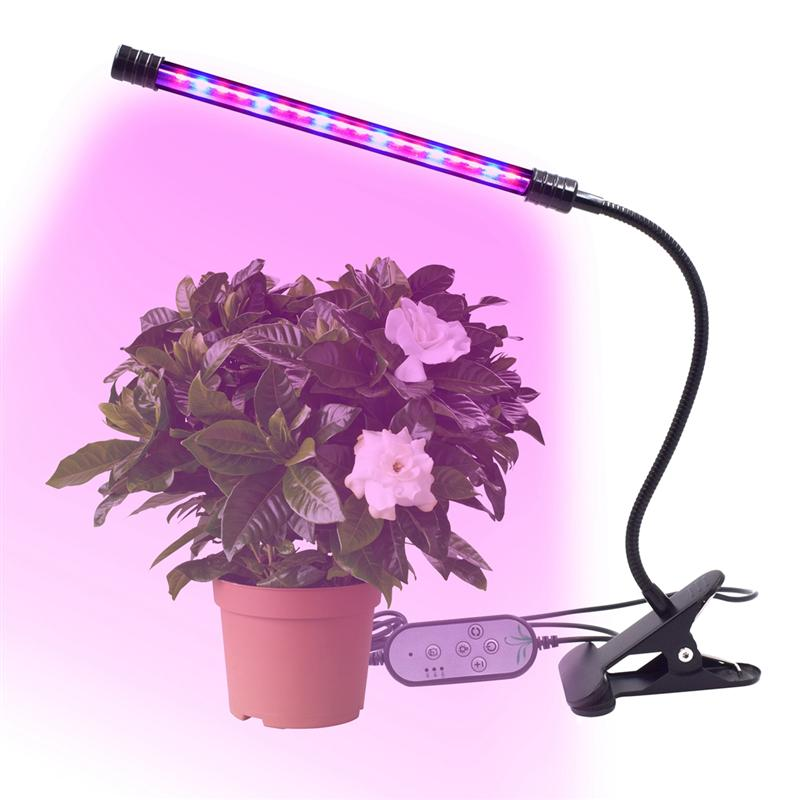 9W LED 1 Head Long Strip Grow Plant Grow Lights for Indoor Greenhouse Plants Clip Lamp