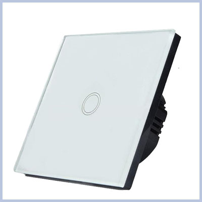 110v-250v Crystal Glass Touch Panel Wall Light Switch EU Standard
