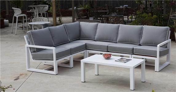 Aluminium sofa set aluminium painted garden furniture