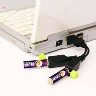 USB Rechargeable Battery AAA Size 500MAh