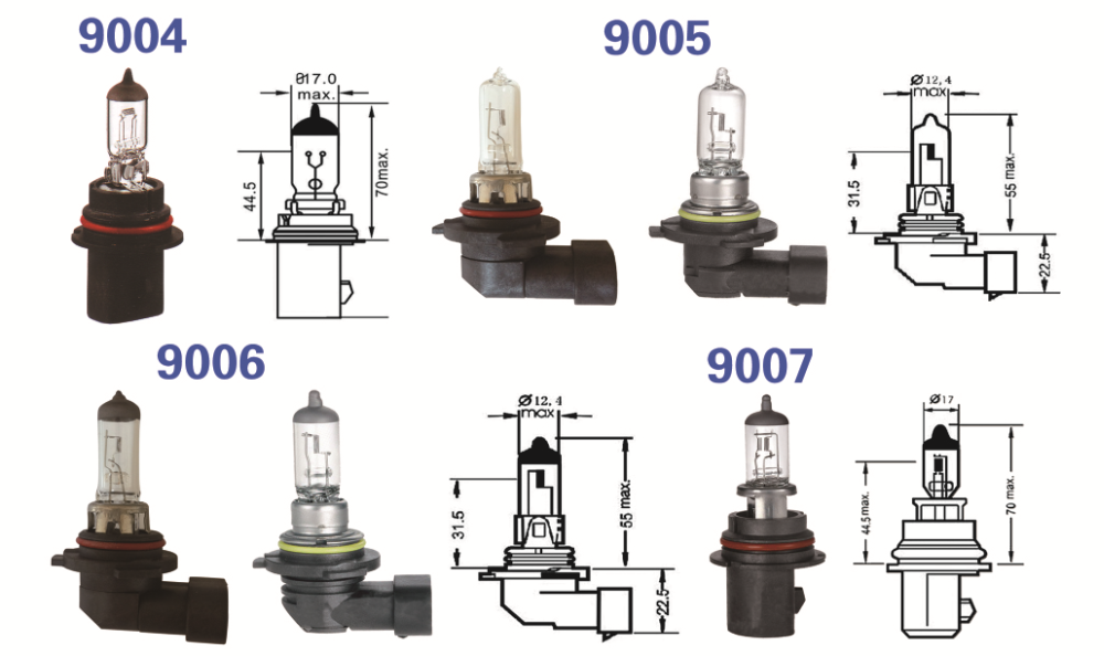 9005(HB3) P20D 12V 100W Halogen bulb Car head light ,high lumen auto bulb