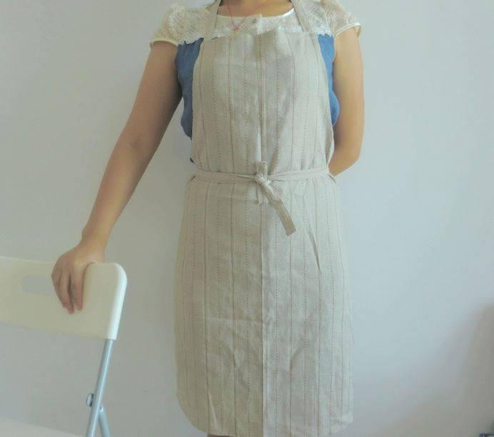 Stitched linen union apron AL-025