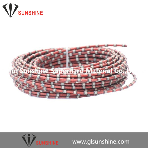 11mm plastic diamond wire for marble block squaring trimming profiling cutting