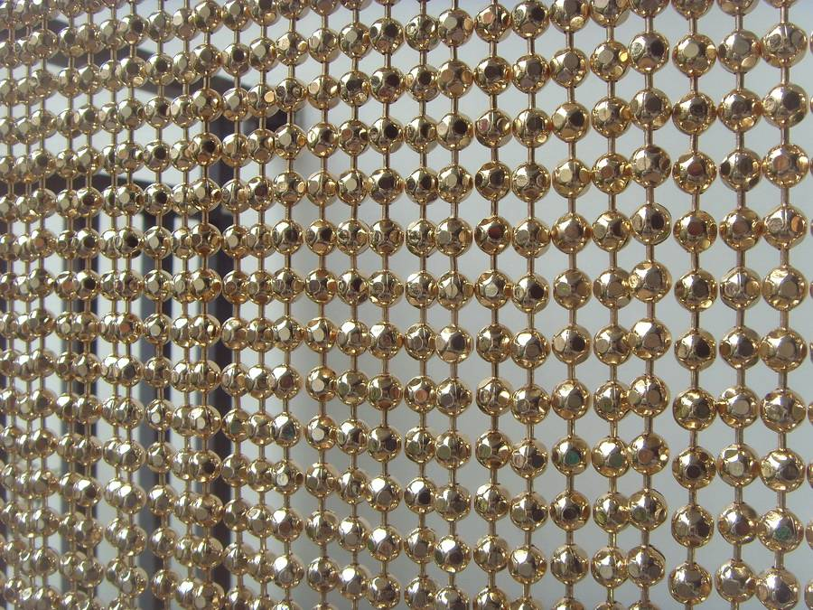 faceted ball chain curtain