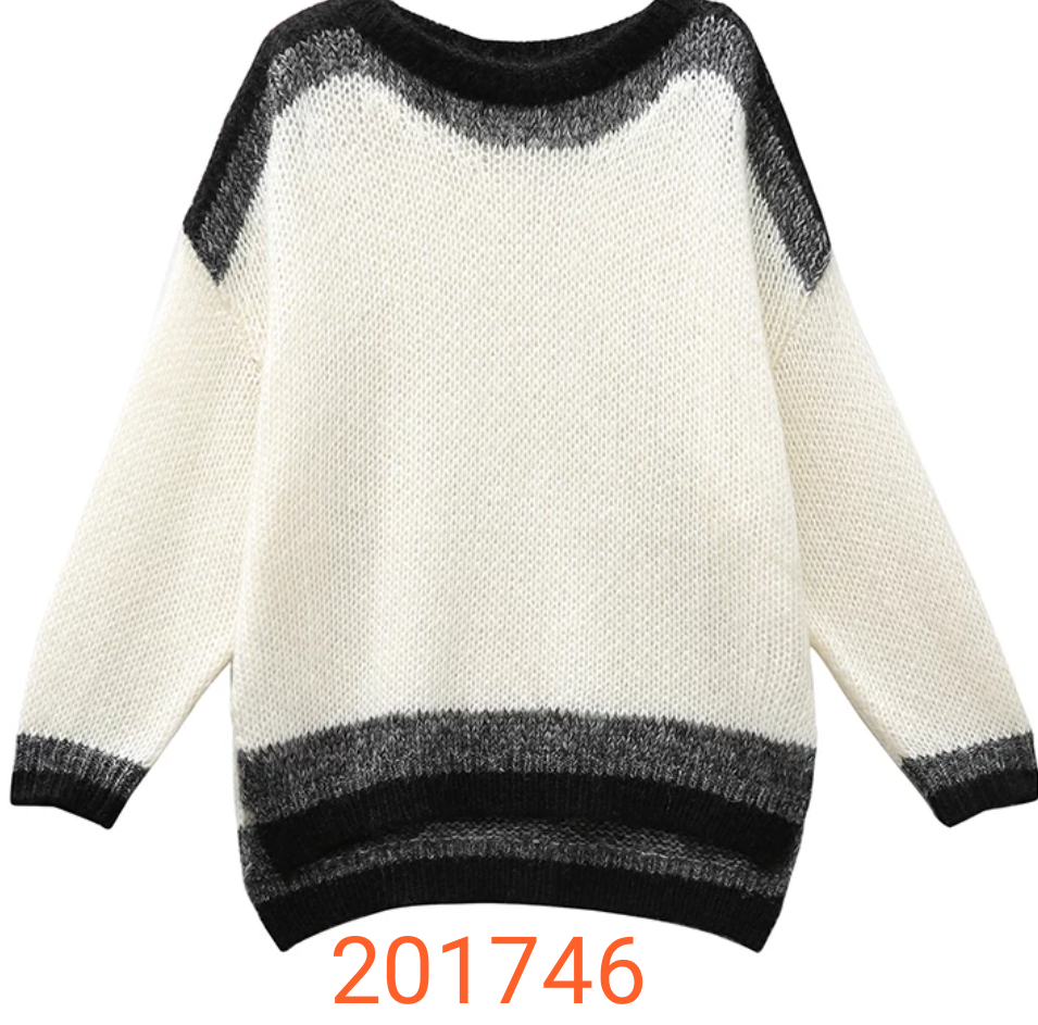fashion sweater with long sleeve screw