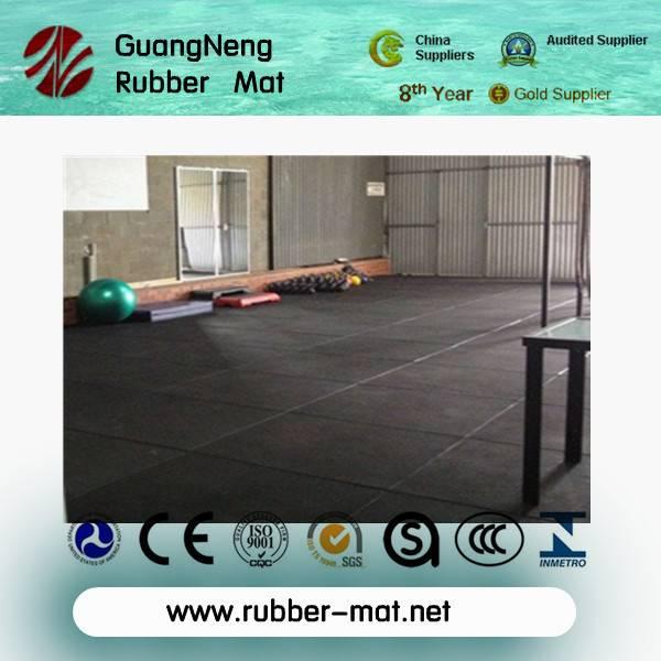 Anti-slip gym rubber flooring mats