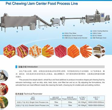 Pet chewing food process line