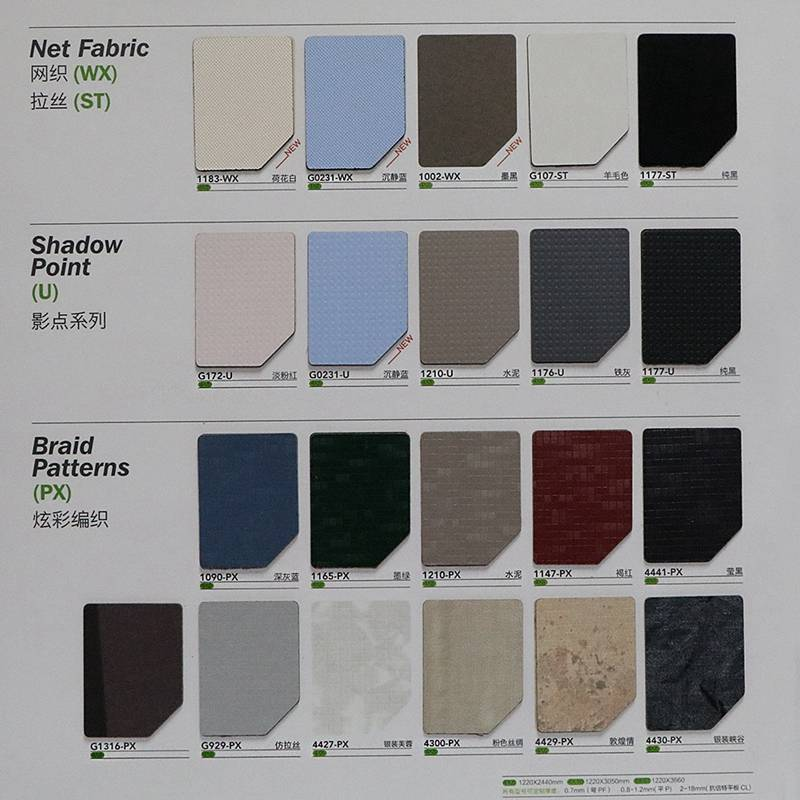 Laminate color/formica sheets price/formica panel