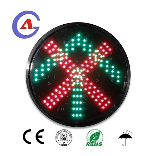 red cross green arrow traffic light module for led traffic signal