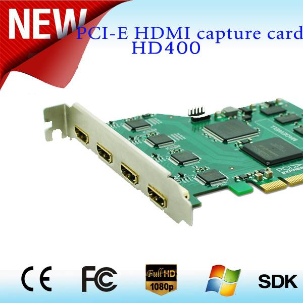4 Channel video capture card PCI-Express x4 slot 1080P60hz HDMI for PC H.264 Realtime Support Survei